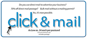 click and mail postcards